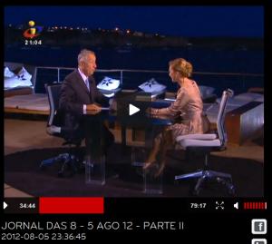 Domingo passado na TVI apenas os cabelos de Judite e de Marcelo denunciavam a ventania