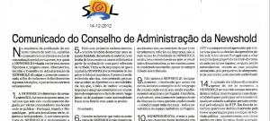 SOL Comunicado Newshold
