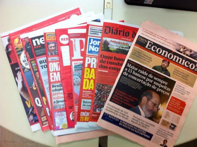 jornais vermelhos