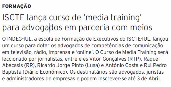 jornalistas fazem media training