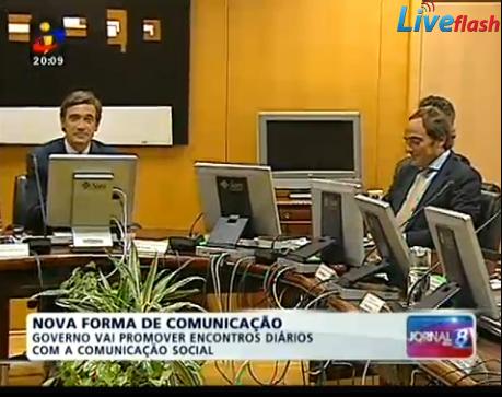 comunicação do governo TVI