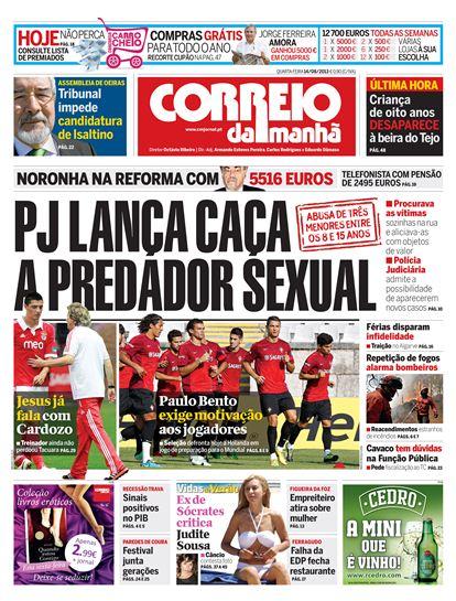 capa CM ex de Sócrates contra Judite de Sousa
