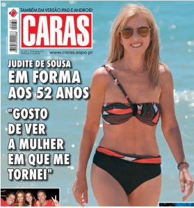 Judite de Sousa capa revista caras
