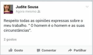Judite no FB