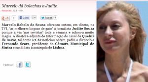 Marcelo dá bolachas a Judite