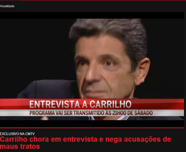 Carrilho entrevista CMTV
