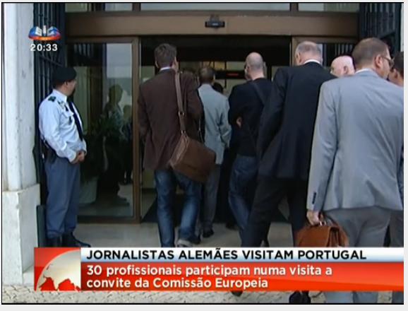 jornalistas alemães em Portugal