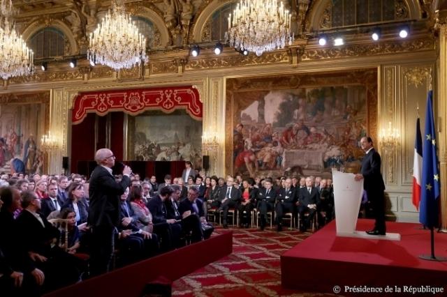 Eliseu conf de imprensa pergunta a Hollande