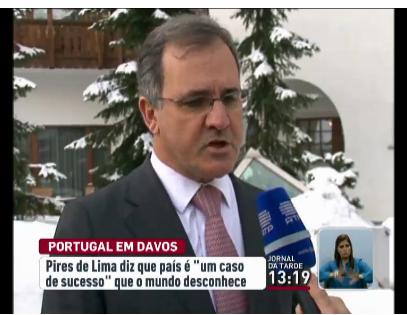 Pires de Lima em Davos