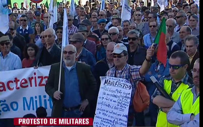 manifestação dos militares rtp