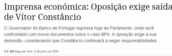 BPN imprensa económica