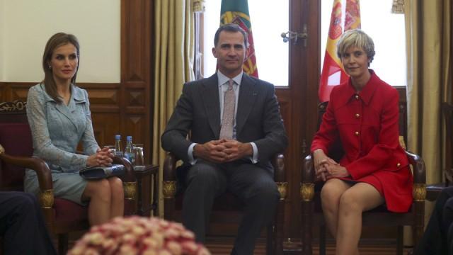 Assunção Esteves com Reis de Espanha