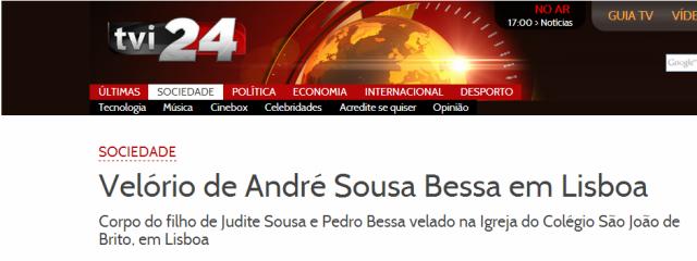 Judite de Sousa TVI velório do filho