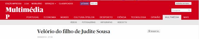Judite de Sousa velório do filho Público