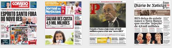 jornais capas