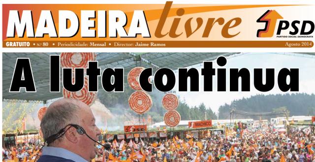 Madeira Livre jornal PSD