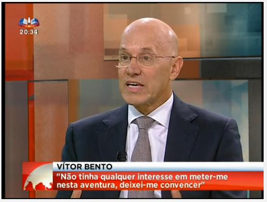 Vitor Bento entrevista à SIC