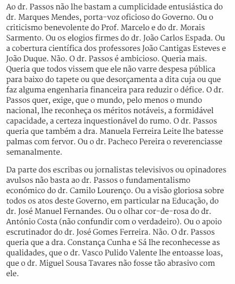 Nicolau Santos sobre criticas de Passos