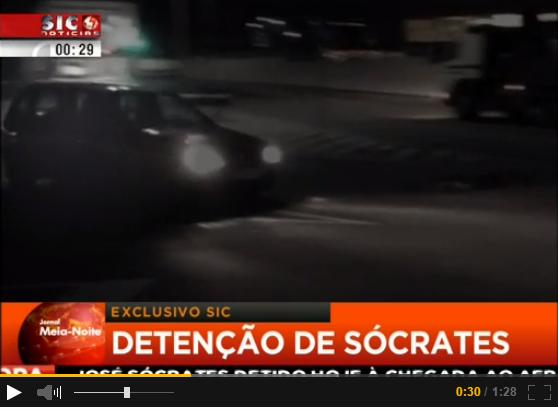Sócrates detido SIC