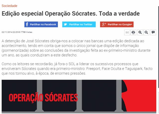Sol operação Sócrates