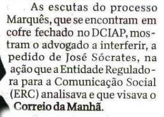 Escutas a Sócrates recorte fechadas em cofre CM 22 Jan 2014
