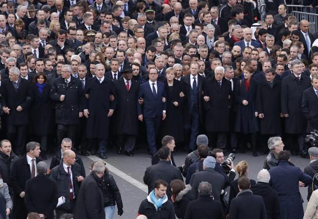 Paris marcha contra o terrorismo