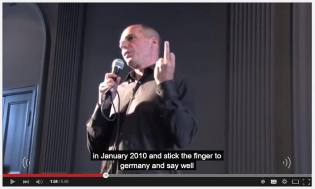 Varoufakis mostra dedo do meio