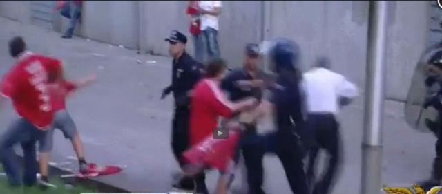 CM Benfica polícia bate no avô