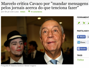 Marcelo sobre recados do PR DN
