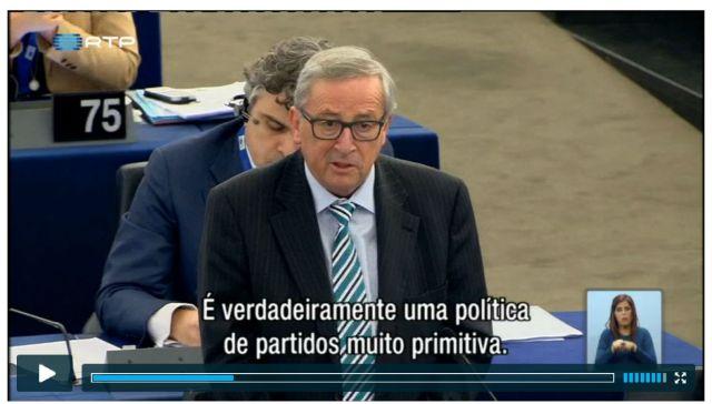 JUnker ralha c eurodeputados