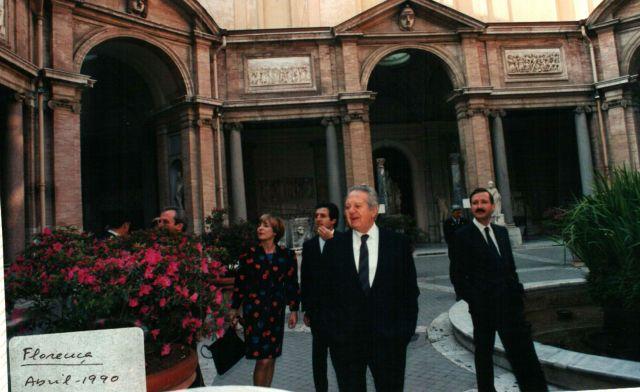 1990, Florença, visita de Estado ao Vaticano