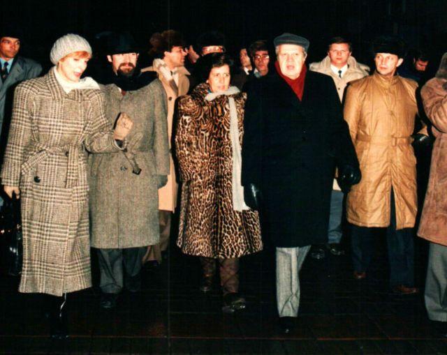 1987, Moscovo, Rua Arbat, visita de Estado à URSS